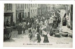 CPA-Carte Postale- France- Hesdin -Marché à La Volaille  VM18956 - Hesdin