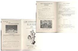 OHAIN (lasne) Camp De Jeunesse   1959 - Programmi