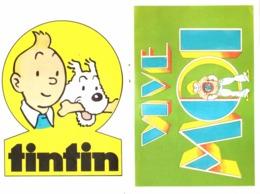 "AUTOCOLLANT ""  TINTIN  "" Supplement Au TINTIN L' HEBDOPTIMISTE  N° 21  De  1973 - Spirou Magazine"