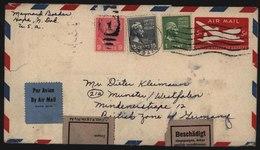 USA Gansache Mit ZuF + Aufkleber Motiv Post Postgeschichte N. Munster - Post