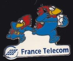 65942- Pin's- France-telecom.Orange.Telephone.Footix.Football. - France Telecom