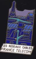 65944- Pin's- France-telecom.Orange.Telephone.Réseaux Cablés. - France Telecom