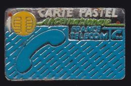 65947- Pin's- France-telecom.Orange.Telephone.Carte Pastel. - France Telecom