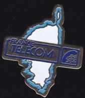 65952- Pin's- France-telecom.Orange.Telephone.Corse. - France Telecom