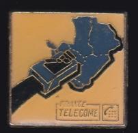65953- Pin's- France-telecom.Orange.Telephone.Numéris. - France Telecom