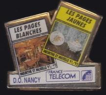 65954- Pin's- France-telecom.Orange.Telephone.Annuaires.DO Nancy. - France Telecom