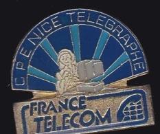 65968- Pin's- France-telecom.Orange.Telephone..CPE Nice Telegraphe. - France Telecom