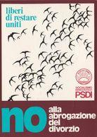 Cartolina - Postcard / Non Viaggiata - Unsent /  16° Congresso Nazionale PSDI. Annullo Manifestazione Al Verso - Eventos