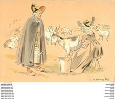 WW Cpa Cpsm 03 BOURBONNAIS. La Laitière Par Bonnefoy - Bourbon L'Archambault