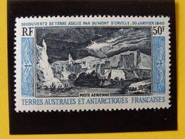 T.A.A.F. N°8 Neuf* Découverte De La Terre Adélie Par Dumont D'Urville 20 Janvier 1840 Poste Aérienne Charnière Cote 120€ - Airmail