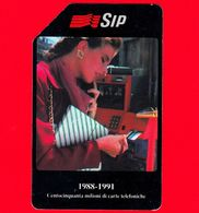 ITALIA - Scheda Telefonica - SIP - Usata - 150 Milioni Di Carte - C&C 2191 - Golden 134 - Italia