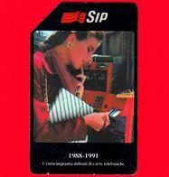 ITALIA - Scheda Telefonica - SIP - Usata - 150 Milioni Di Carte - Golden 135 - Errori & Varietà