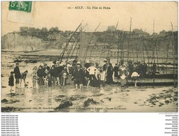 80 AULT. Un Filet De Pêche Pour Poissons. Publicité Bouillon Kub Avec Le Timbre - Ault