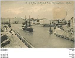 17 SAINT-MARTIN DE RE. Bateaux à L'Entrée Du Bassin Dans Le Port 1911 (timbre Manquant) - Saint-Martin-de-Ré