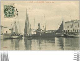 17 SAINT-MARTIN DE RE. Bateaux De Pêcheurs à L'Entrée Du Port 1907 - Saint-Martin-de-Ré