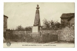 St Saint Just De Baffie - Le Square Du Poilu - Circulé 1941, Sous Enveloppe - Frankreich