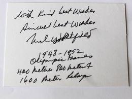 Mal WHITFIELD - Signé / Dédicace Authentique / Autographe - Athletics