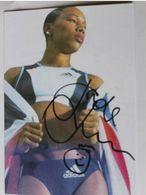 Jade LINSEY JOHNSON - Signé / Dédicace Authentique / Autographe - Athletics