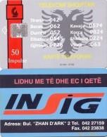 ALBANIA PHONECARD INSIG-ALB 4 -20000pcs- 7/96-  USED(2) - Albanie
