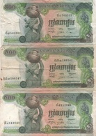 Cambodge Cambodia : Lot De 3 Billets : 500 Riels (Très Mauvais État) - Cambogia