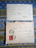 CARTE PHOTO DE FREDERIC MISTRAL ECRITE ET SIGNATURE AUTOGRAPHE + Enveloppe Cachet MAILLANE  A SERGE EVANS écrivain - Autografi