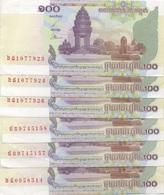 Cambodge Cambodia : 100 Riels 2001 UNC (presque) Prix Par Billet - Cambogia