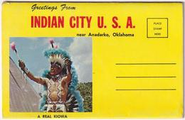 Greetings From Indian City USA Near Anadarko Oklahoma - & 12 Views Lettercard Complete - Etats-Unis