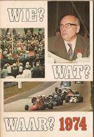 WIE, WAT, WAAR Jaarboek 1974 - Histoire