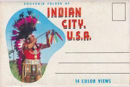 Souvenir Folder Of Indian City USA Near Anadarko Oklahoma - & 12 Views Lettercard Complete - Etats-Unis