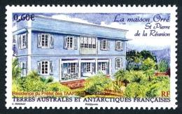 TAAF 2011 - Yv. 596 **   Faciale= 0,60 EUR - Maison Orré (Réunion. Résidence Du Préfet  ..Réf.TAF21094 - Neufs