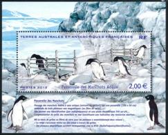 TAAF 2012 - Yv. F638 **     - Feuillet Faune. Passerelle Des Manchots Adélie  ..Réf.TAF21095 - Neufs
