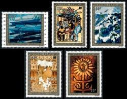 POLYNESIE 1973 - Yv. PA 77 78 79 80 81 **   Cote= 110,00 EUR - Tableaux D'Artistes Polyn. (5 Val.)  ..Réf.POL25163 - Poste Aérienne
