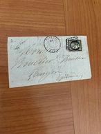 LETTRE  ( Fragement ) Affranchissement 20c Noir ( N 3  YT) De MAZAMET POUR LANGON  ( Port Offert ) - Postmark Collection (Covers)