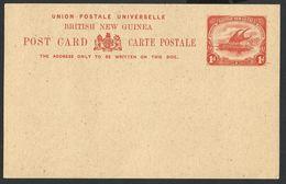 British New Guinea, Papouasie 1901--UPU. POST CARD. Lakatoi On The Mambara River. Sailing Ship--NEW. - Papua New Guinea