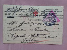 REGNO - Cartolina Prigioniero Della I° Guerra Mondiale Proveniente Da Praga + Spese Postali - 1900-44 Vittorio Emanuele III
