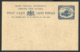 British New Guinea, Papouasie 1901--UPU. POST CARD. Lakatoi On The Mambara River. Sailing Ship--NEW - Papua New Guinea