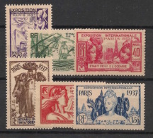 Océanie - 1937 - N°Yv. 121 à 126 - Série Complète - Exposition Internationale - Neuf Luxe ** / MNH / Postfrisch - Unused Stamps