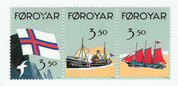 Faroe Island 1990 Flag And Ships, Mi 200-202 MNH(**) - Faroe Islands