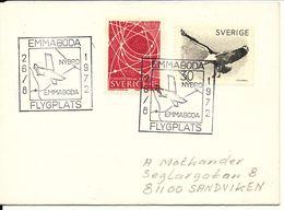 Sweden Cover First Flight Emmaboda - Nybro 26-8-1972 - Suecia
