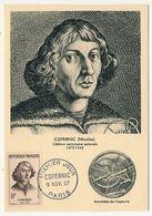 7 Cartes Maximum 1957 - Célébrités étrangères - Copernic, Michel Ange, Cervantès, Rembrandt, Newton, Mozart, Goethe - Cartes-Maximum