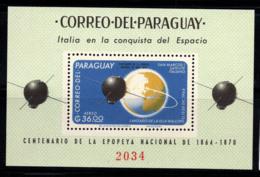 Paraguay 1966 Mi. Bl. 88 Bloc Feuillet 100% Neuf ** 36, Espace - Paraguay