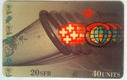 40 Units Sprint Phonecard - Suisse