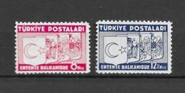 1937 MNH Turkey Mi 1014-15 Postfris** - 1921-... Republic