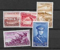 1938 MNH Turkey Mi 1029-34 Postfris** - Unused Stamps
