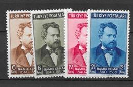 1940 MNH Turkey Mi 1072-76 Postfris** - 1921-... Republic