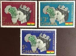 Ghana 1961 Royal Visit MNH - Ghana (1957-...)