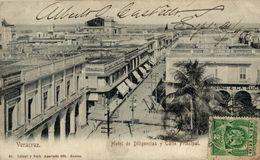 MEXICO. VERACRUZ. HOTEL DE DILIGENCIAS Y CALLE PRINCIPAL - Mexico