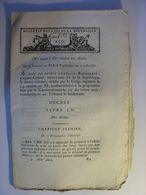 BULLETIN DES LOIS N°259 De VENTOSE AN XI (MARS 1803) - FAMILLE MARIAGE - Decrees & Laws