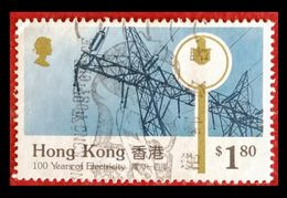 110. HONG KONG ($1.80) USED STAMP 100 YEARS OF ELECTRICITY. - 1997-... Région Administrative Chinoise
