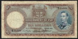 Ref. 4252-4755 - BIN FIJI . 1951. FIJI 10 SHILLINGS 1951 - Fiji
